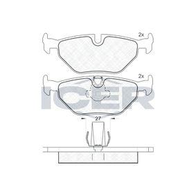 Bremsbelagsatz, Scheibenbremse Höhe: 44,97mm, Dicke/Stärke: 17,3mm mit OEM-Nummer 34216761281