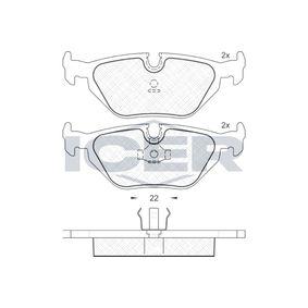 Bremsbelagsatz, Scheibenbremse Breite: 123,1mm, Höhe: 44,9mm, Dicke/Stärke: 17,3mm mit OEM-Nummer 34211162446