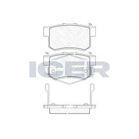 ICER Remblokkenset, schijfrem 181187 met OEM Nummer 43022SV4G22
