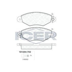 Bremsbelagsatz, Scheibenbremse Höhe: 47,23mm, Dicke/Stärke: 18mm mit OEM-Nummer 4252.05