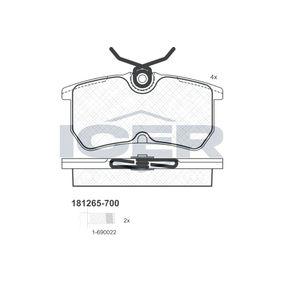 Bremsbelagsatz, Scheibenbremse Breite: 87,1mm, Höhe: 42,4mm, Dicke/Stärke: 15mm mit OEM-Nummer 1848556