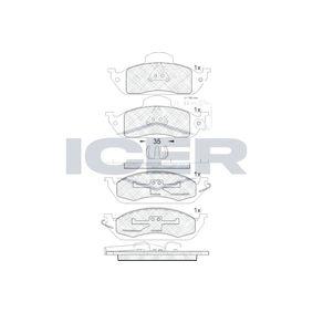Bremsbelagsatz, Scheibenbremse Breite: 187,9mm, Höhe 2: 77,2mm, Höhe: 59,0mm, Dicke/Stärke 2: 17,3mm, Dicke/Stärke: 16,3mm mit OEM-Nummer 163 420 12 20