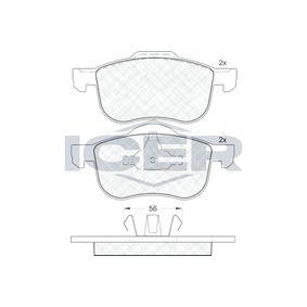 Bremsbelagsatz, Scheibenbremse Höhe 2: 68,9mm, Höhe: 72,4mm, Dicke/Stärke: 18,8mm mit OEM-Nummer 274285