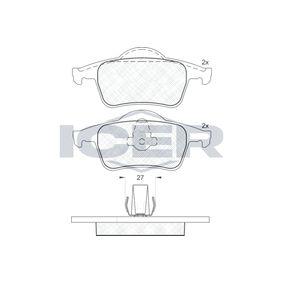 Bremsbelagsatz, Scheibenbremse Breite 2: 123,7mm, Breite: 122,5mm, Höhe 2: 53,8mm, Höhe: 53,7mm, Dicke/Stärke: 17,2mm mit OEM-Nummer 3066555-2