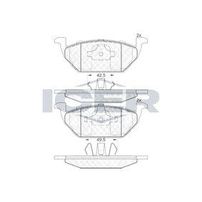Bremsbelagsatz, Scheibenbremse Höhe: 54,8mm, Dicke/Stärke: 19,5mm mit OEM-Nummer 6C0 698 151 C