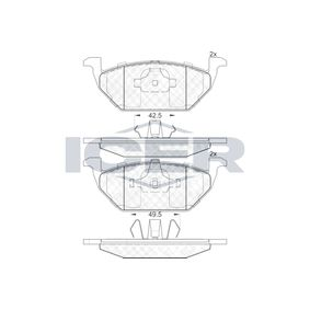 ICER  181338 Brake Pad Set, disc brake Height: 54,8mm, Thickness: 19,5mm