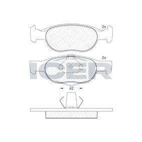 Brake Pad Set, disc brake 181348 PUNTO (188) 1.2 16V 80 MY 2006
