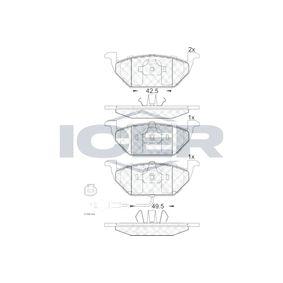 Bremsbelagsatz, Scheibenbremse Höhe: 54,8mm, Dicke/Stärke: 19,5mm mit OEM-Nummer 8Z0698151A