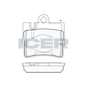 ICER  181390 Brake Pad Set, disc brake Height: 72,1mm, Thickness: 15,9mm