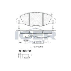ICER  181406-701 Brake Pad Set, disc brake Height: 63,3mm, Thickness: 18mm