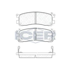 Bremsbelagsatz, Scheibenbremse Art. Nr 181417 160,00€