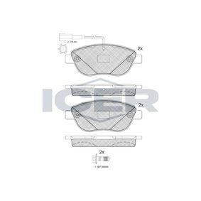 Bremsbelagsatz, Scheibenbremse Höhe: 57,6mm, Dicke/Stärke: 19,2mm mit OEM-Nummer 77366602