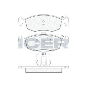 ICER  181441 Bremsbelagsatz, Scheibenbremse Höhe: 52,53mm, Dicke/Stärke: 18mm