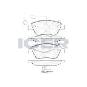 Bremsbelagsatz, Scheibenbremse Breite: 122,9mm, Höhe: 53,2mm, Dicke/Stärke: 17,8mm mit OEM-Nummer 16 172 833 80
