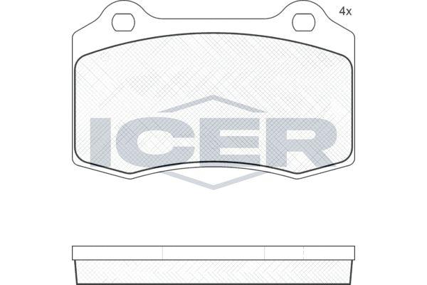 ICER  181447 Bremsbelagsatz, Scheibenbremse Breite: 109,7mm, Höhe: 69,2mm, Dicke/Stärke: 14,7mm