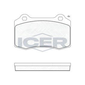 ICER  181447 Bremsbelagsatz, Scheibenbremse Höhe: 69,2mm, Dicke/Stärke: 14,7mm