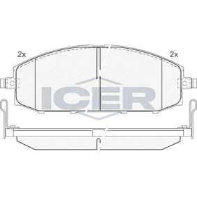 ICER  181448 Brake Pad Set, disc brake Height: 61,14mm, Thickness: 18,8mm
