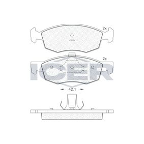 Bremsbelagsatz, Scheibenbremse Höhe 2: 52,53mm, Höhe: 52,62mm, Dicke/Stärke: 18mm mit OEM-Nummer 9 949 125