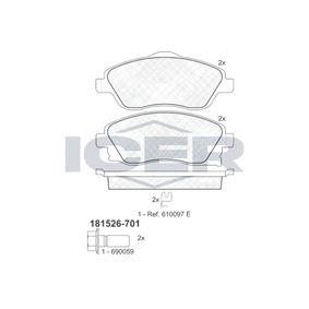 Bremsbelagsatz, Scheibenbremse Breite: 131,5mm, Höhe 2: 55,6mm, Höhe: 52,5mm, Dicke/Stärke: 17mm mit OEM-Nummer 16 05 316
