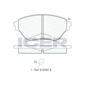 Bremsbelagsatz, Scheibenbremse Höhe: 58,35mm, Dicke/Stärke: 16,2mm mit OEM-Nummer N0Y9-3323Z