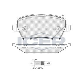 Nissan Micra K12 1.5dCi Bremsbeläge ICER 181534-700 (1.5dCi Diesel 2004 K9K 704)