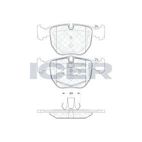Bremsbelagsatz, Scheibenbremse Höhe 2: 70,7mm, Höhe: 69,8mm, Dicke/Stärke: 20,4mm mit OEM-Nummer 93185751