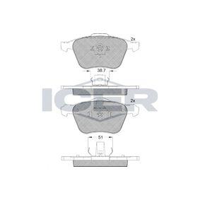 Bremsbelagsatz, Scheibenbremse Höhe 2: 71,12mm, Höhe: 72,13mm, Dicke/Stärke 2: 18mm, Dicke/Stärke: 19,6mm mit OEM-Nummer 3079323-1