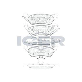 ICER  181564 Brake Pad Set, disc brake Height: 50,7mm, Thickness: 16,9mm