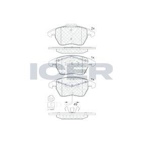 Bremsbelagsatz, Scheibenbremse Höhe 2: 71,4mm, Höhe: 66,1mm, Dicke/Stärke: 20,3mm mit OEM-Nummer 1K0-698-151-E