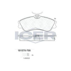 Bremsbelagsatz, Scheibenbremse Breite: 129,8mm, Höhe: 56,0mm, Dicke/Stärke: 19mm mit OEM-Nummer E172536
