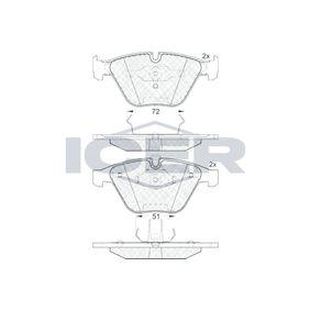 Bremsbelagsatz, Scheibenbremse Höhe: 68,3mm, Dicke/Stärke: 20,3mm mit OEM-Nummer 34116794916