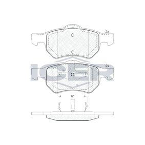 Bremsbelagsatz, Scheibenbremse Höhe 2: 72,24mm, Höhe: 69,32mm, Dicke/Stärke: 18,6mm mit OEM-Nummer 5015 365AA