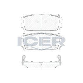 Bremsbelagsatz, Scheibenbremse Höhe: 46,33mm, Dicke/Stärke: 15,8mm mit OEM-Nummer 58302-H1A00