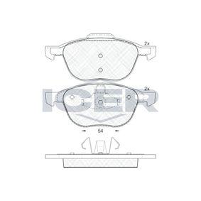Bremsbelagsatz, Scheibenbremse Höhe 2: 66,93mm, Höhe: 62,23mm, Dicke/Stärke: 18,4mm mit OEM-Nummer AV612K021-BB