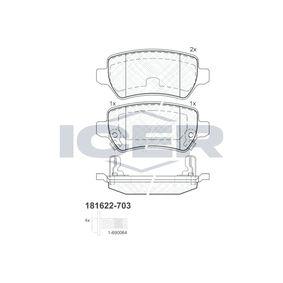 Bremsbelagsatz, Scheibenbremse Höhe: 42,6mm, Dicke/Stärke: 15,2mm mit OEM-Nummer 93176 118