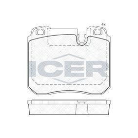 ICER  181625 Bremsbelagsatz, Scheibenbremse Höhe: 83,1mm, Dicke/Stärke: 18mm