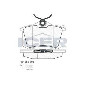 Bremsbelagsatz, Scheibenbremse Höhe: 52,8mm, Dicke/Stärke: 16,4mm mit OEM-Nummer 44060-3511R