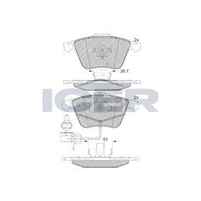 ICER  181654 Bremsbelagsatz, Scheibenbremse Höhe: 72,86mm, Dicke/Stärke: 20,3mm