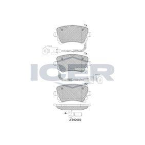 Bremsbelagsatz, Scheibenbremse Höhe: 59,1mm, Dicke/Stärke: 17,4mm mit OEM-Nummer 3D0.698.451