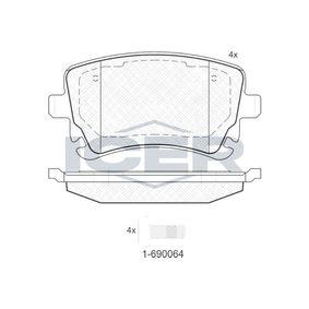 Bremsbelagsatz, Scheibenbremse Höhe: 59,1mm, Dicke/Stärke: 17,4mm mit OEM-Nummer 4B3.698.451A