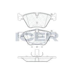 ICER  181683 Bremsbelagsatz, Scheibenbremse Höhe: 63,4mm, Dicke/Stärke: 20,3mm