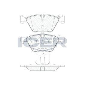 Bremsbelagsatz, Scheibenbremse Höhe: 63,4mm, Dicke/Stärke: 20,3mm mit OEM-Nummer 3411 6799 166