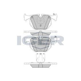 Cárter de Aceite BMW X5 (E70) 3.0 d de Año 02.2007 235 CV: Juego de pastillas de freno (181685) para de ICER