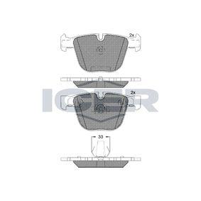 Pastillas de Freno BMW X5 (E70) 3.0 d de Año 02.2007 235 CV: Juego de pastillas de freno (181687) para de ICER