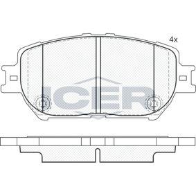 Bremsbelagsatz, Scheibenbremse Höhe: 58,5mm, Dicke/Stärke: 17,3mm mit OEM-Nummer 04465-33240