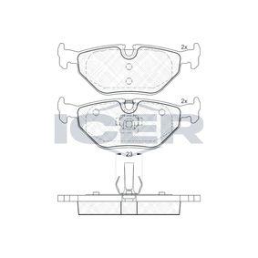Bremsbelagsatz, Scheibenbremse Höhe: 44,9mm, Dicke/Stärke: 17,3mm mit OEM-Nummer 3421 2 157 574