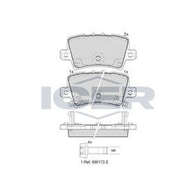 fékbetét készlet, tárcsafék hátsótengely 181741-706