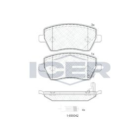 Brake Pad Set, disc brake Width: 116,4mm, Height: 52,4mm, Thickness: 17,3mm with OEM Number 4701305