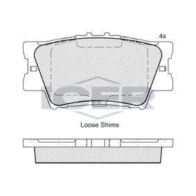 ICER  181761 Bremsbelagsatz, Scheibenbremse Höhe: 49,2mm, Dicke/Stärke: 15,2mm