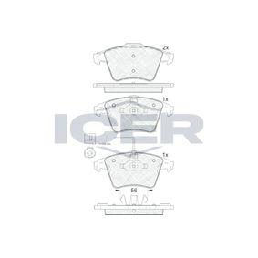 Brake Pad Set, disc brake Width 2 [mm]: 156,3mm, Width: 155,1mm, Height 2: 74,9mm, Height: 73,3mm, Thickness 2: 17,7mm, Thickness: 18,2mm with OEM Number 7L6 698 151 F
